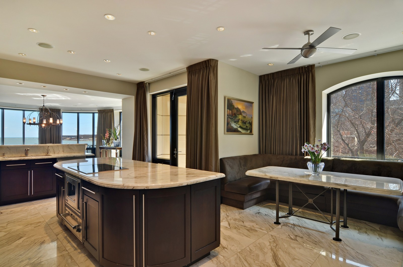 Real Estate Photography - 840 N Lake Shore Dr, Unit 201, Chicago, IL, 60611 - Kitchen / Breakfast Room