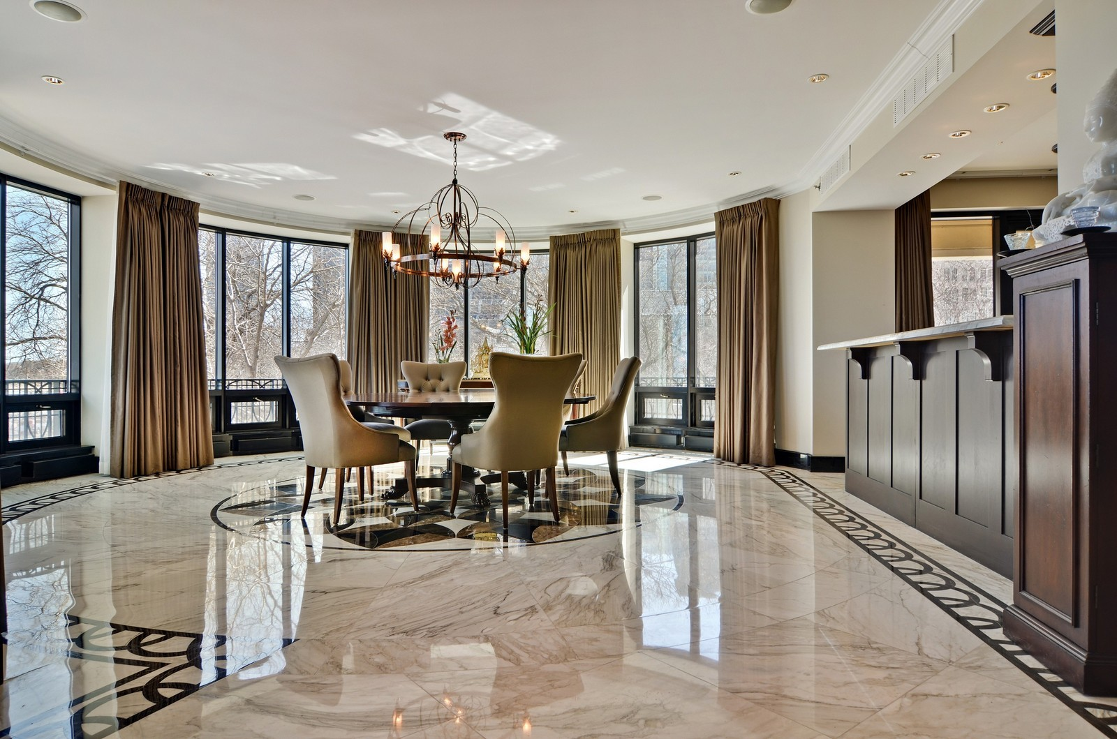 Real Estate Photography - 840 N Lake Shore Dr, Unit 201, Chicago, IL, 60611 - Dining Room