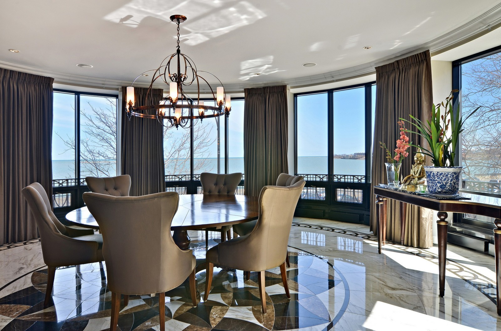 Real Estate Photography - 840 N Lake Shore Dr, Unit 201, Chicago, IL, 60611 - Dining Area