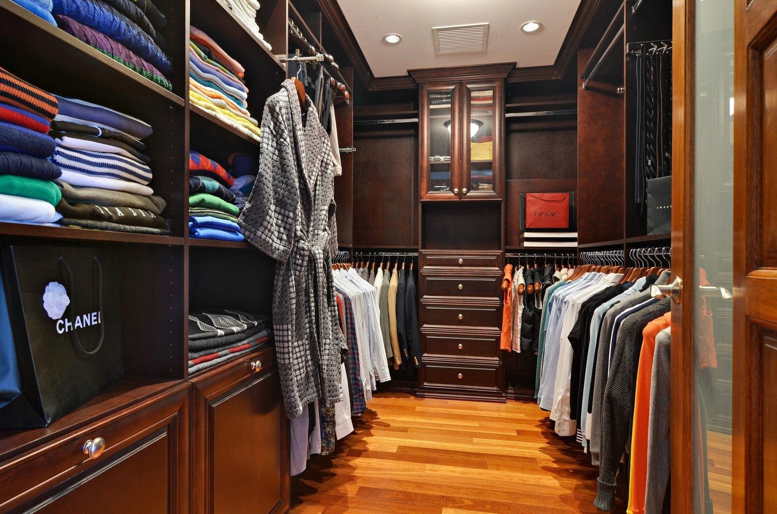 Real Estate Photography - 840 N Lake Shore Dr, Unit 201, Chicago, IL, 60611 - Master Bedroom Closet