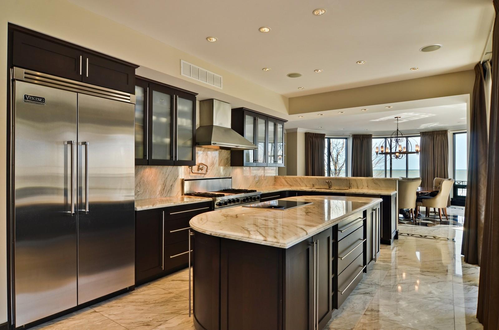 Real Estate Photography - 840 N Lake Shore Dr, Unit 201, Chicago, IL, 60611 - Kitchen
