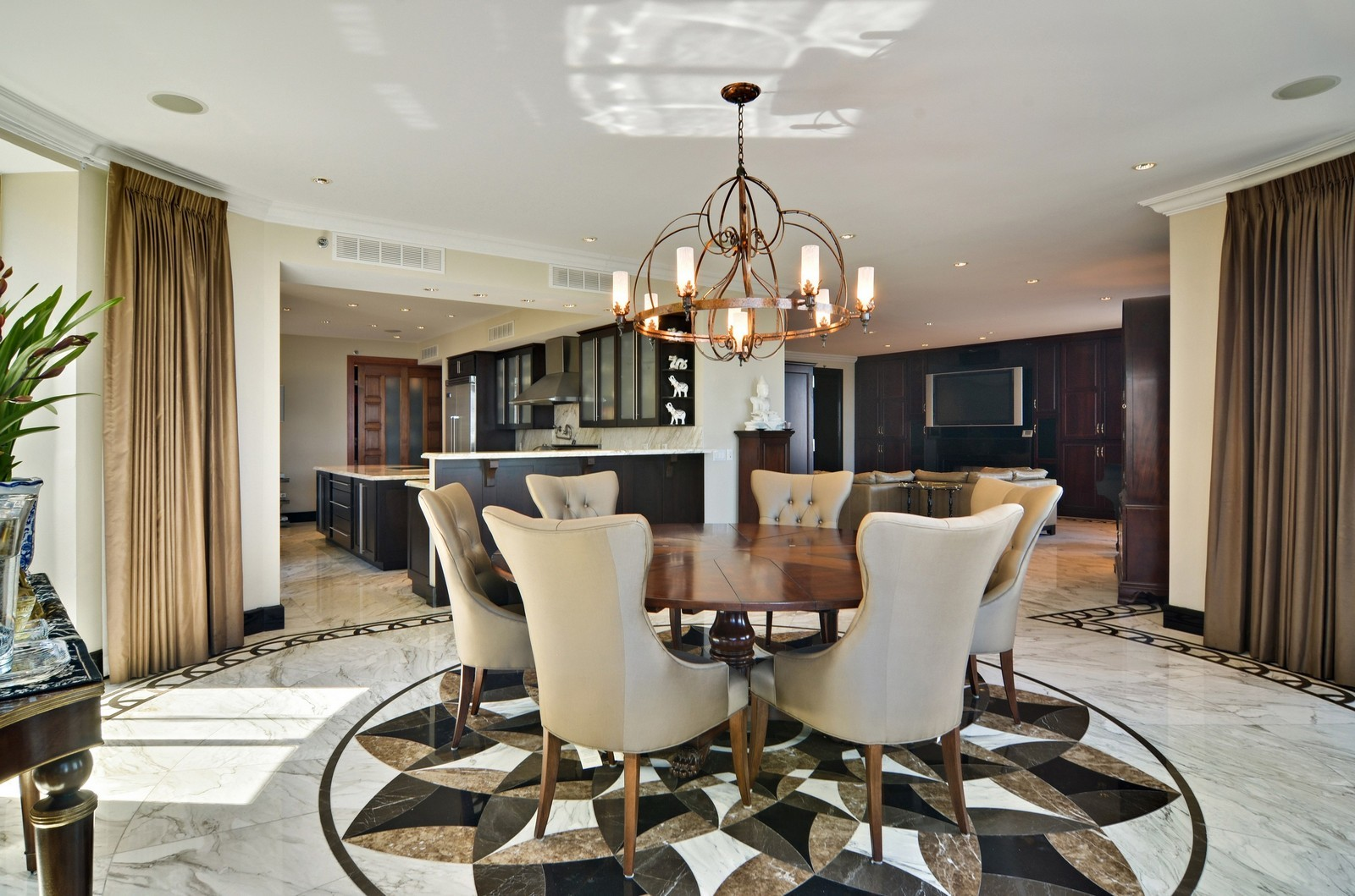 Real Estate Photography - 840 N Lake Shore Dr, Unit 201, Chicago, IL, 60611 - Living Room / Dining Room