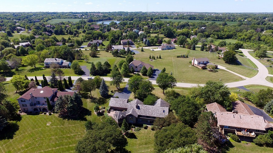Real Estate Photography - 6 Harvard, Hawthorn Woods, IL, 60047 - Neighborhood Aerial