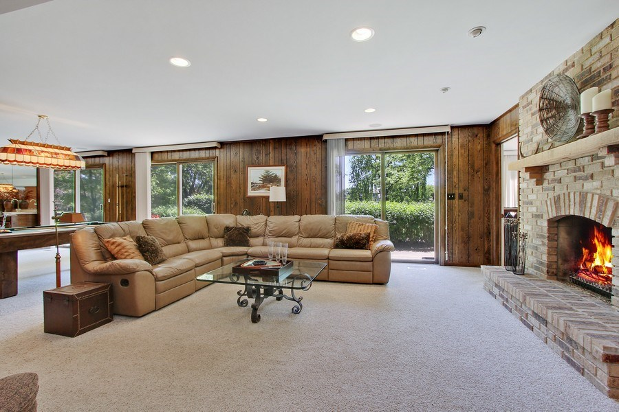 Real Estate Photography - 6 Harvard, Hawthorn Woods, IL, 60047 - Recreation Room