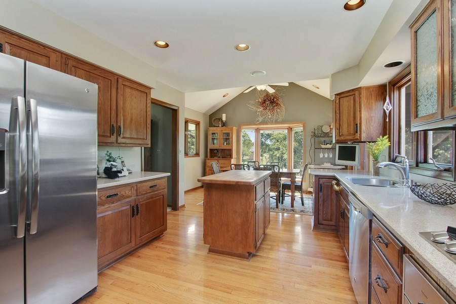 Real Estate Photography - 6 Harvard, Hawthorn Woods, IL, 60047 - Kitchen with Exterior View