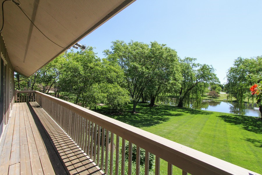 Real Estate Photography - 6 Harvard, Hawthorn Woods, IL, 60047 - Balcony View