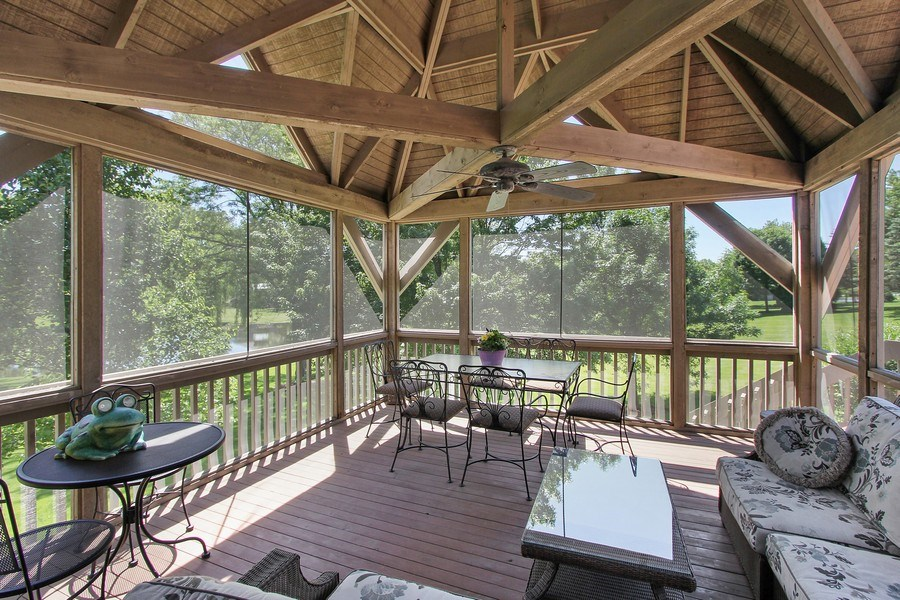 Real Estate Photography - 6 Harvard, Hawthorn Woods, IL, 60047 - Screened Porch