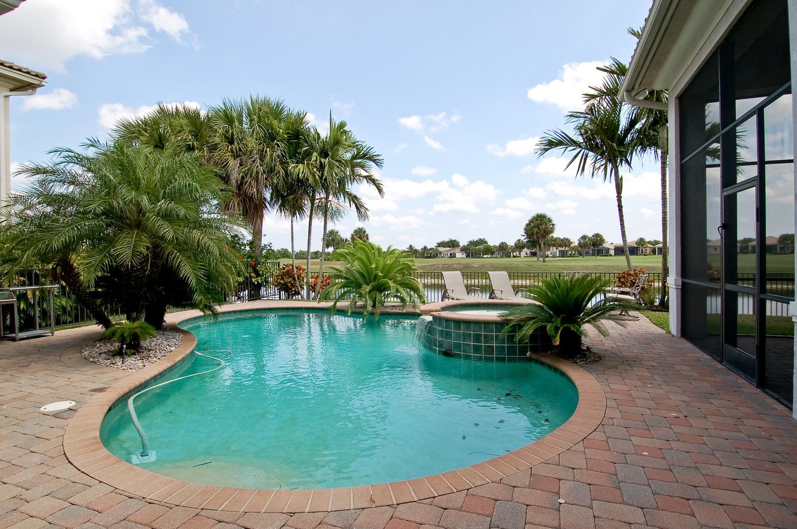Real Estate Photography - 11687 NW 69th Pl, Parkland, FL, 33076 - acevedopool.jpeg