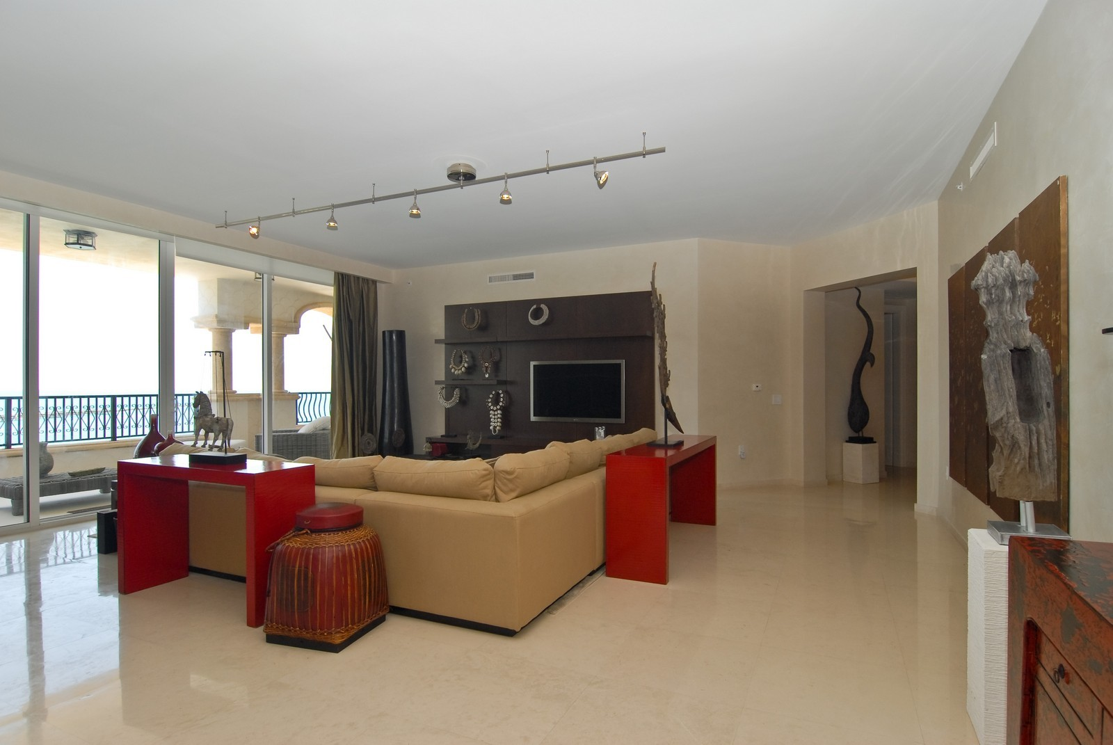 Real Estate Photography - 7161 Fisher Island Drive, Miami Beach, FL, 33109 - Living Room