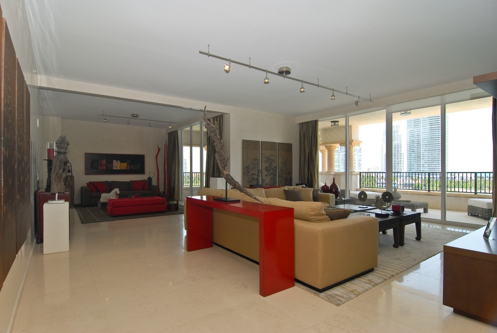 Real Estate Photography - 7161 Fisher Island Drive, Miami Beach, FL, 33109 - Living Rm/Family Rm