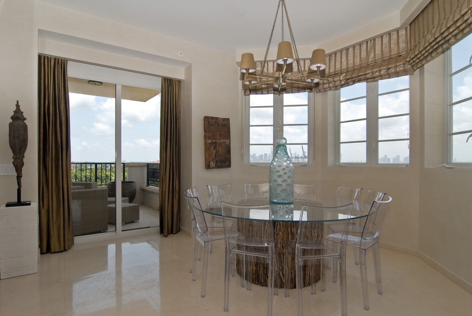 Real Estate Photography - 7161 Fisher Island Drive, Miami Beach, FL, 33109 - Dining Room