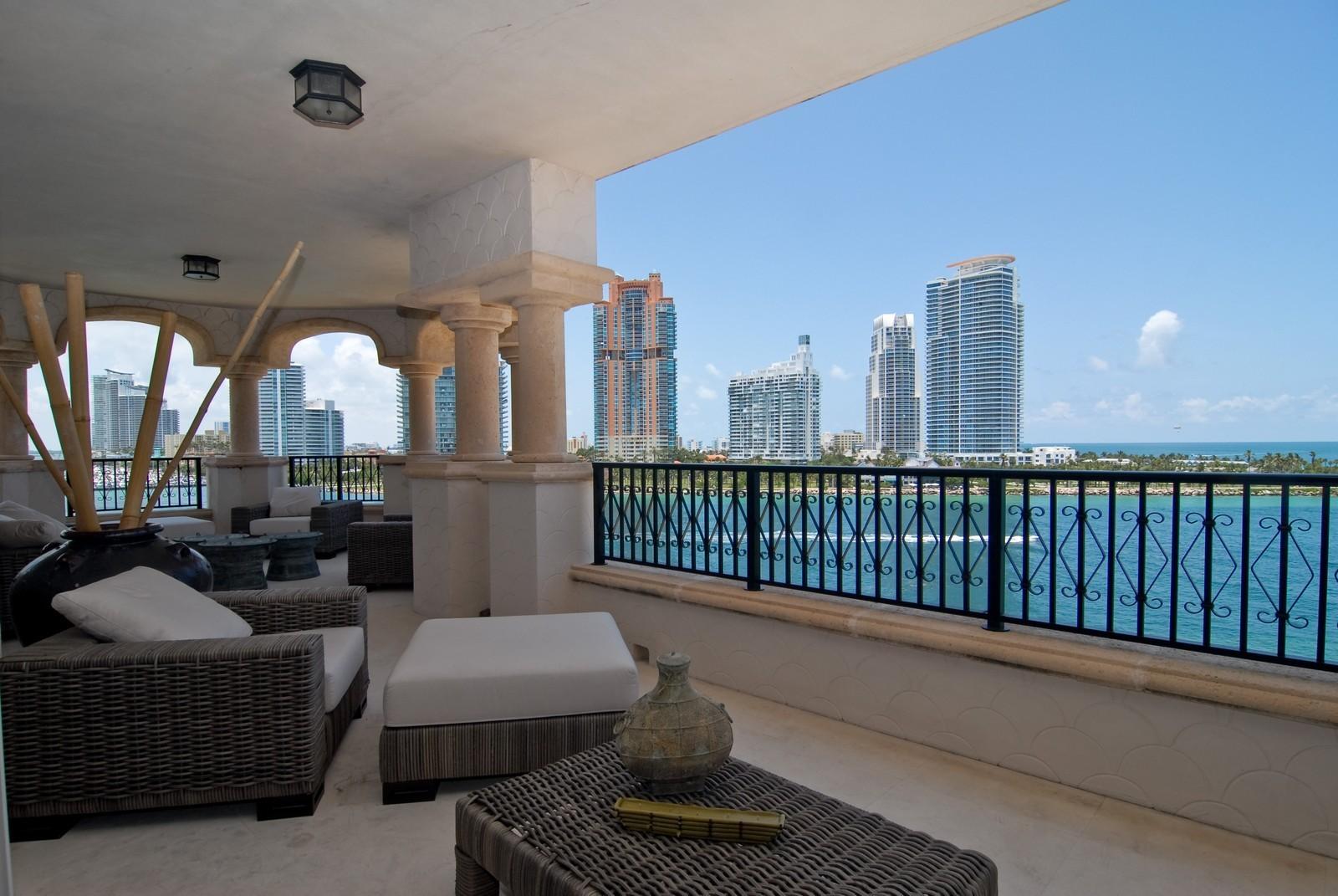 Real Estate Photography - 7161 Fisher Island Drive, Miami Beach, FL, 33109 - Balcony