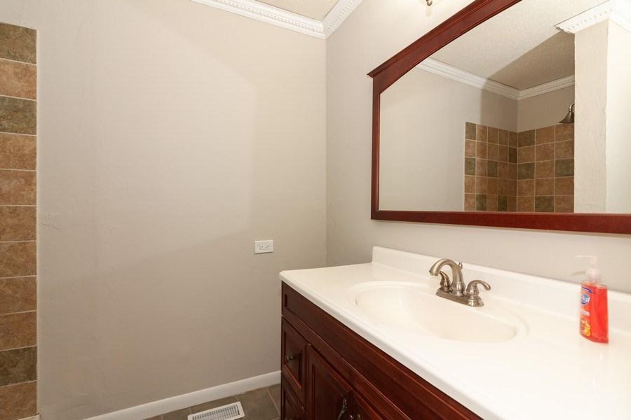 Real Estate Photography - 850 Camden, Aurora, IL, 60504 - 2nd Bathroom
