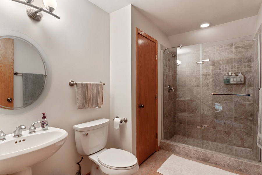 Real Estate Photography - 2S420 MADISON ST, WHEATON, IL, 60189 - 2nd Bathroom