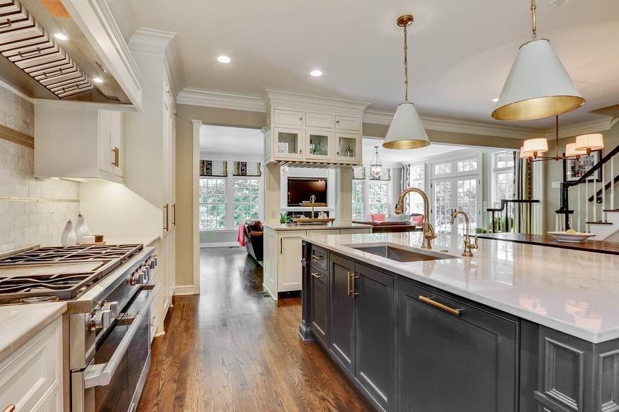 """Real Estate Photography - 5651 High Dr, Mission Hills, KS, 66208 - 48"""" Miele Gas Range w/Built-In Microwave"""