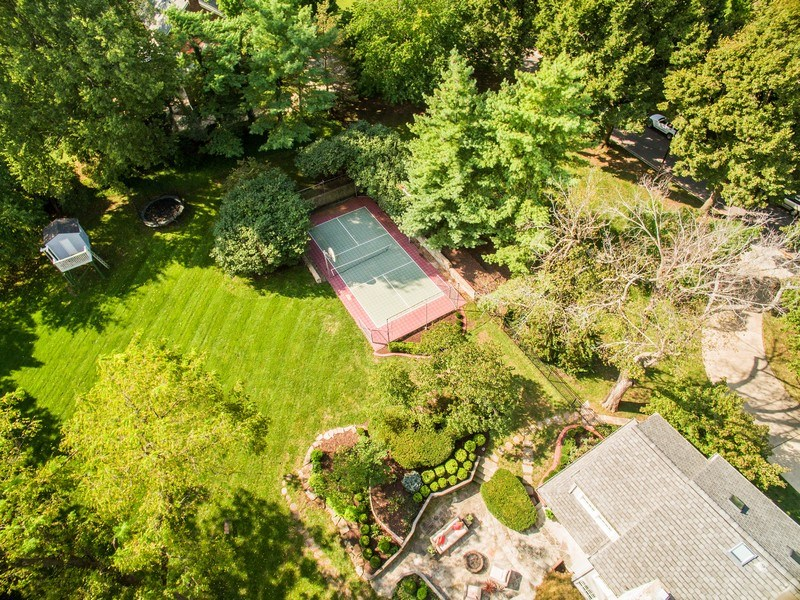 Real Estate Photography - 5651 High Dr, Mission Hills, KS, 66208 - Aerial View