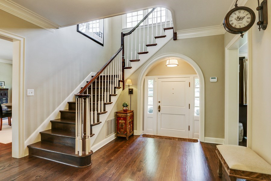 Real Estate Photography - 5651 High Dr, Mission Hills, KS, 66208 - Foyer with Guest Bathroom