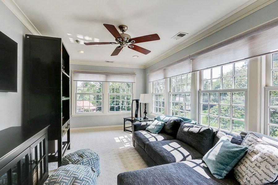 Real Estate Photography - 5651 High Dr, Mission Hills, KS, 66208 - Sitting Room Off Master Suite