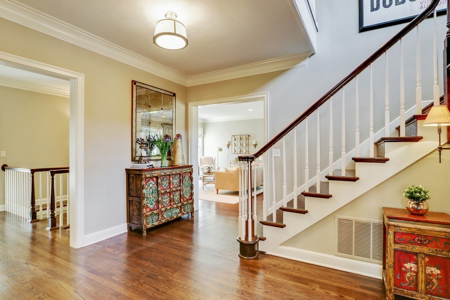 Real Estate Photography - 5651 High Dr, Mission Hills, KS, 66208 - Staircase