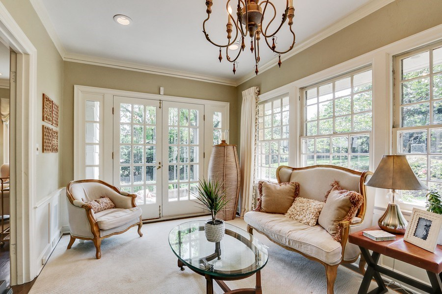 Real Estate Photography - 5651 High Dr, Mission Hills, KS, 66208 - First Floor Sunroom