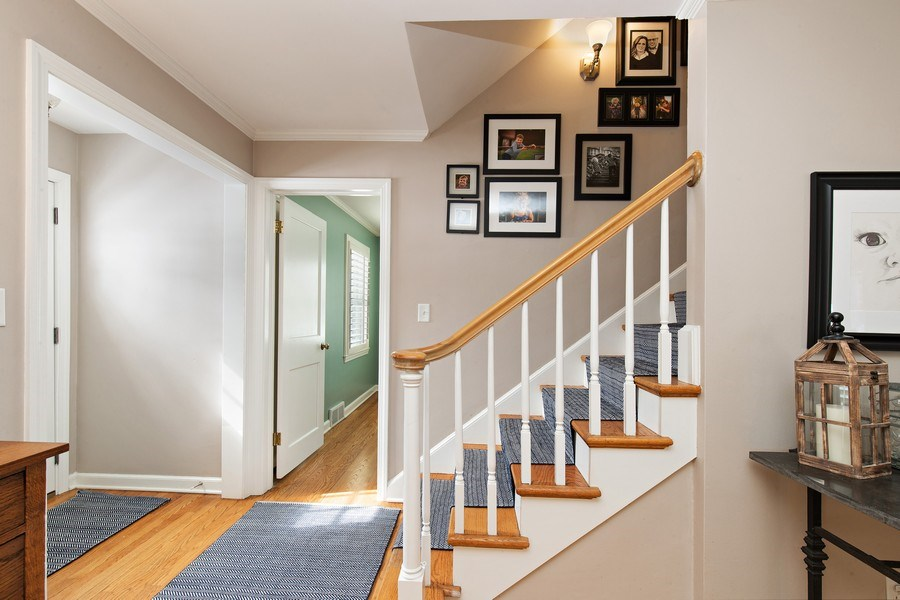 Real Estate Photography - 6108 W 61st Terrace, Mission, KS, 66202 - Foyer featuring hardwood floors