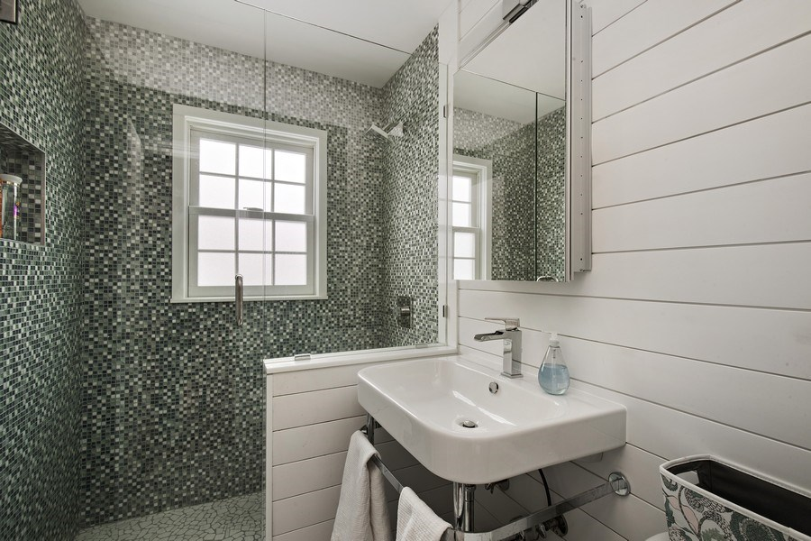 Real Estate Photography - 6108 W 61st Terrace, Mission, KS, 66202 - 1st flr new (2018) full bathroom w/ walk-in shower