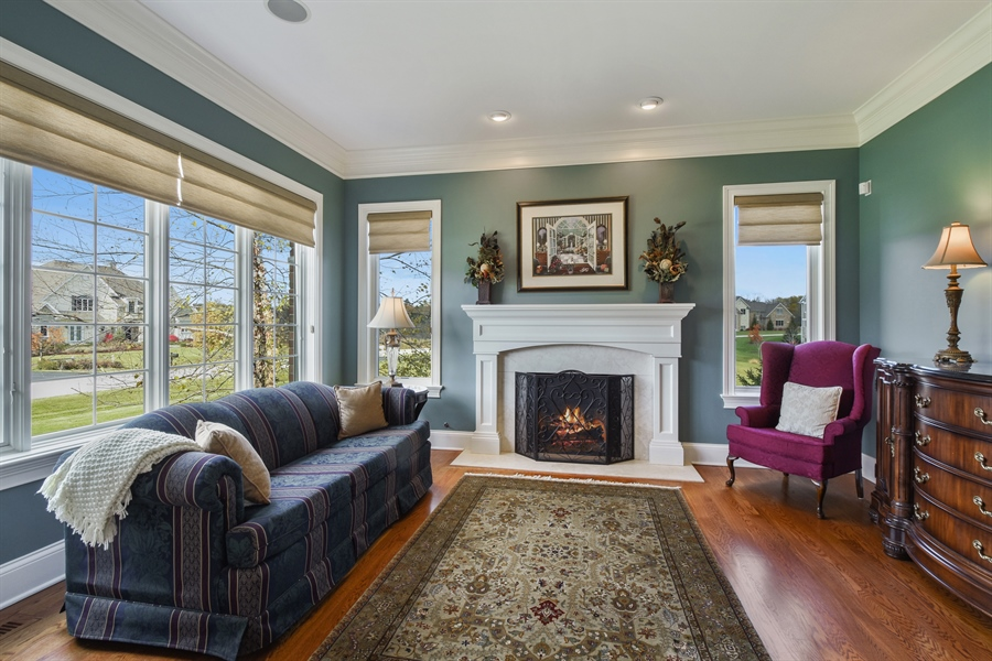 Real Estate Photography - 26053 West Sunset Road, Barrington, IL, 60010 - Living Room