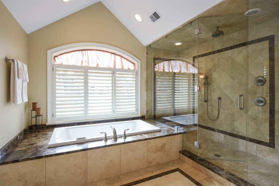 Real Estate Photography - 26053 West Sunset Road, Barrington, IL, 60010 - Master Bathroom