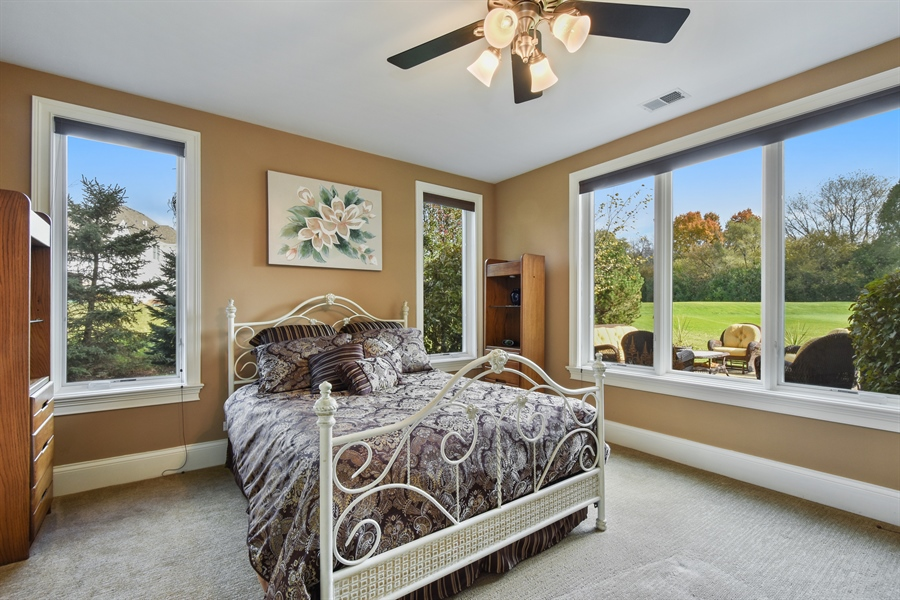 Real Estate Photography - 26053 West Sunset Road, Barrington, IL, 60010 - Guest Bedroom