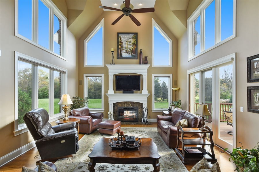 Real Estate Photography - 26053 West Sunset Road, Barrington, IL, 60010 - Family Room