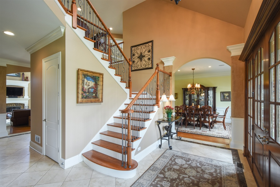 Real Estate Photography - 26053 West Sunset Road, Barrington, IL, 60010 - Foyer