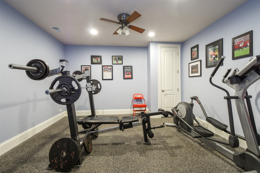 Real Estate Photography - 26053 West Sunset Road, Barrington, IL, 60010 - Fitness Room