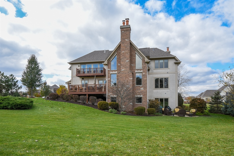 Real Estate Photography - 26053 West Sunset Road, Barrington, IL, 60010 - Rear View