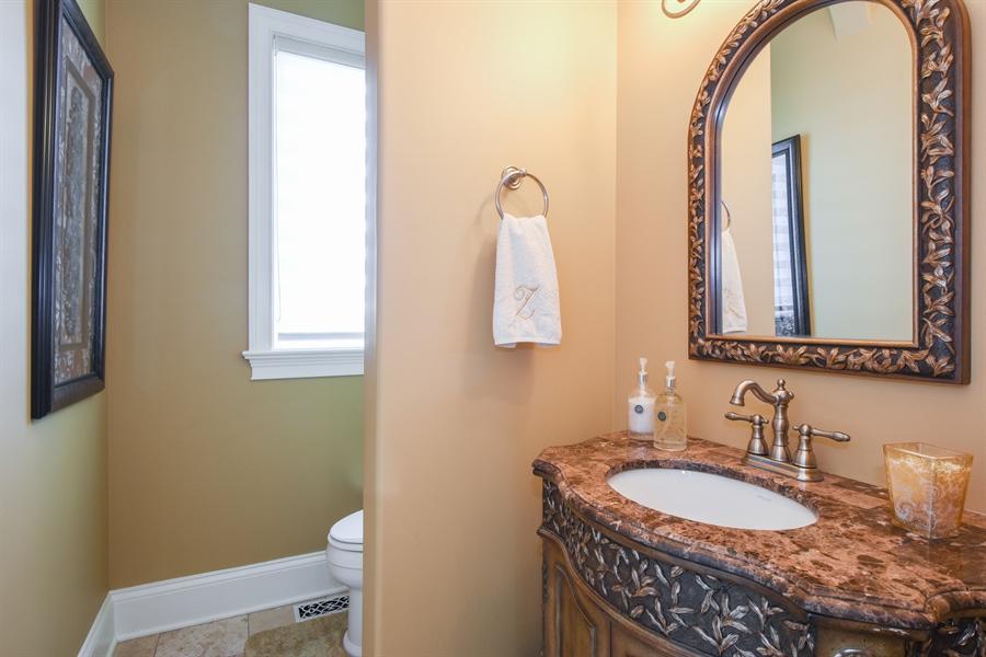 Real Estate Photography - 26053 West Sunset Road, Barrington, IL, 60010 - Half Bath