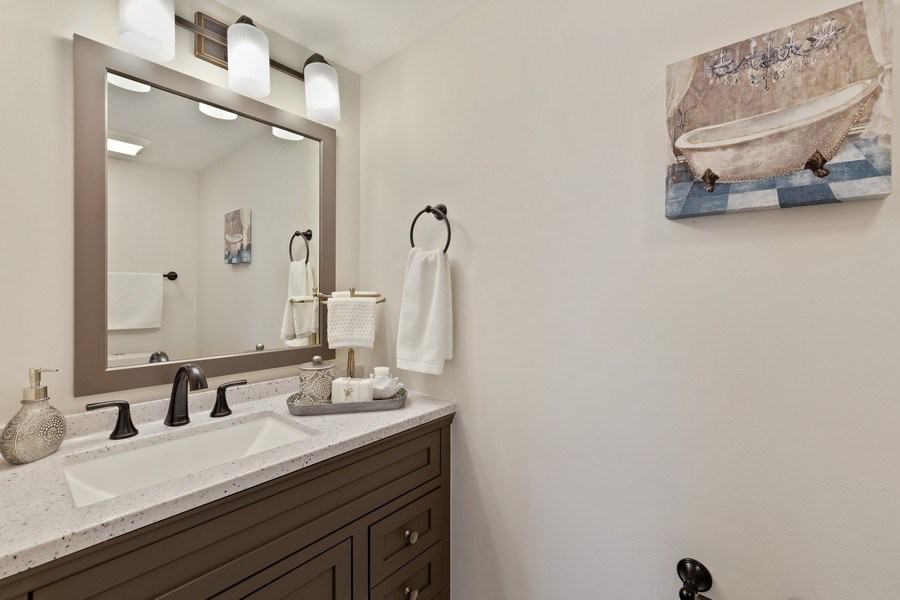 Real Estate Photography - 787 Poppy Lane, Bartlett, IL, 60103 - Powder Room