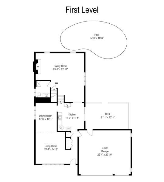 Real Estate Photography - 8124 Tudor Lane, Tinley Park, IL, 60477 - Floor Plan