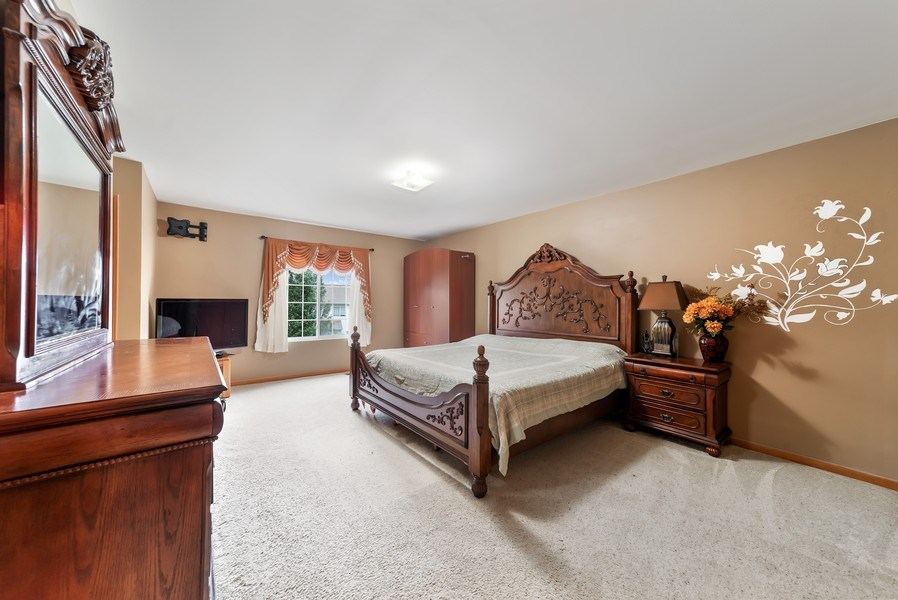 Real Estate Photography - 640 Canterbury, Pingree Grove, IL, 60140 - Master Bedroom