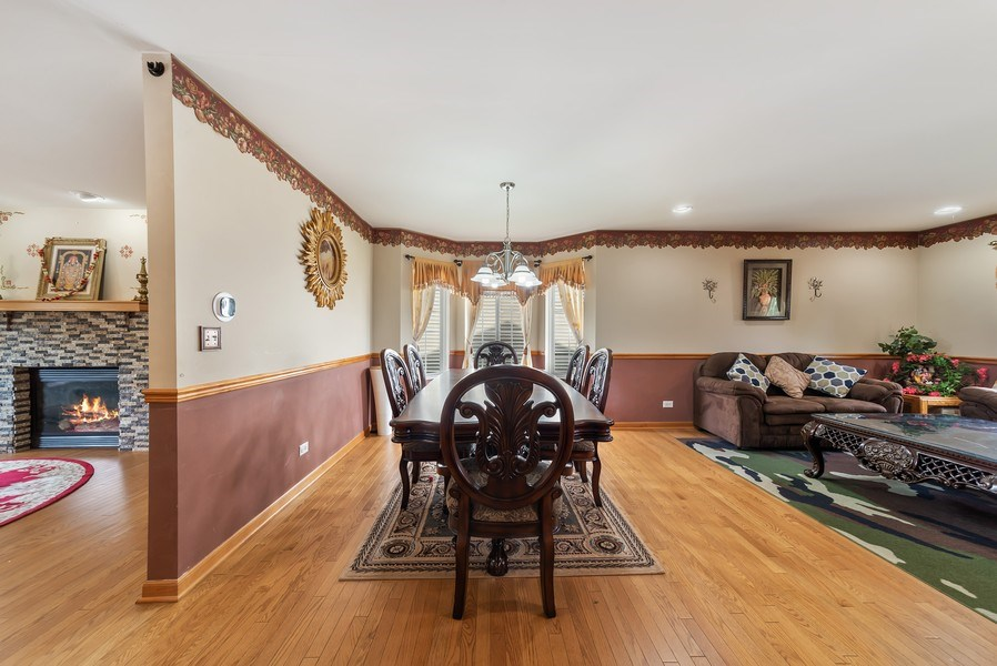 Real Estate Photography - 640 Canterbury, Pingree Grove, IL, 60140 - Dining Room