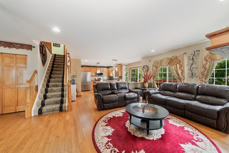Real Estate Photography - 640 Canterbury, Pingree Grove, IL, 60140 - Family Room