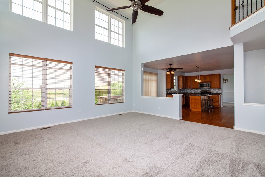 Real Estate Photography - 348 Stonegate, Bolingbrook, IL, 60440 - Family Room / Kitchen