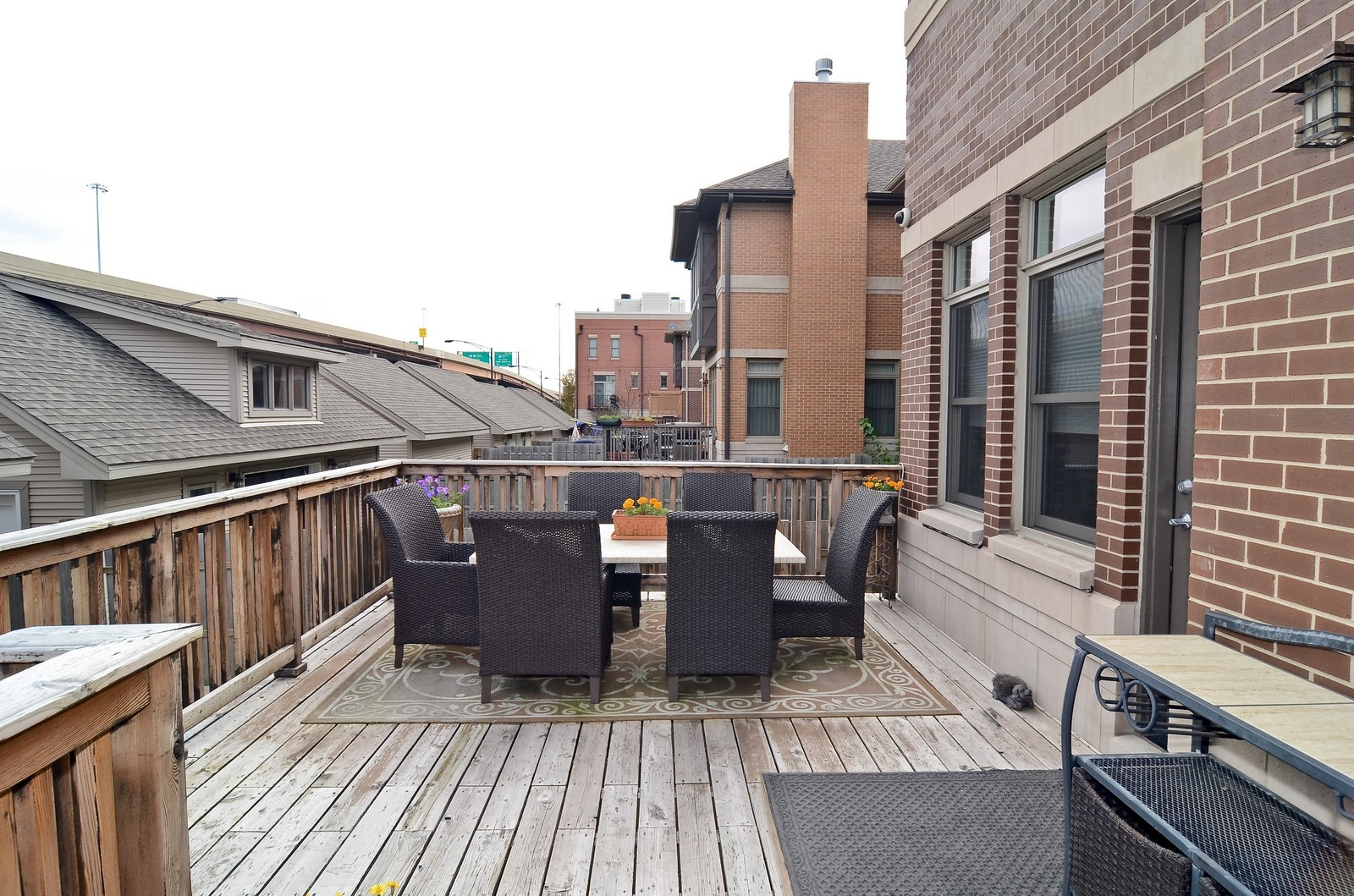 Real Estate Photography - 1443 S. Emerald, Chicago, IL, 60607 - Deck