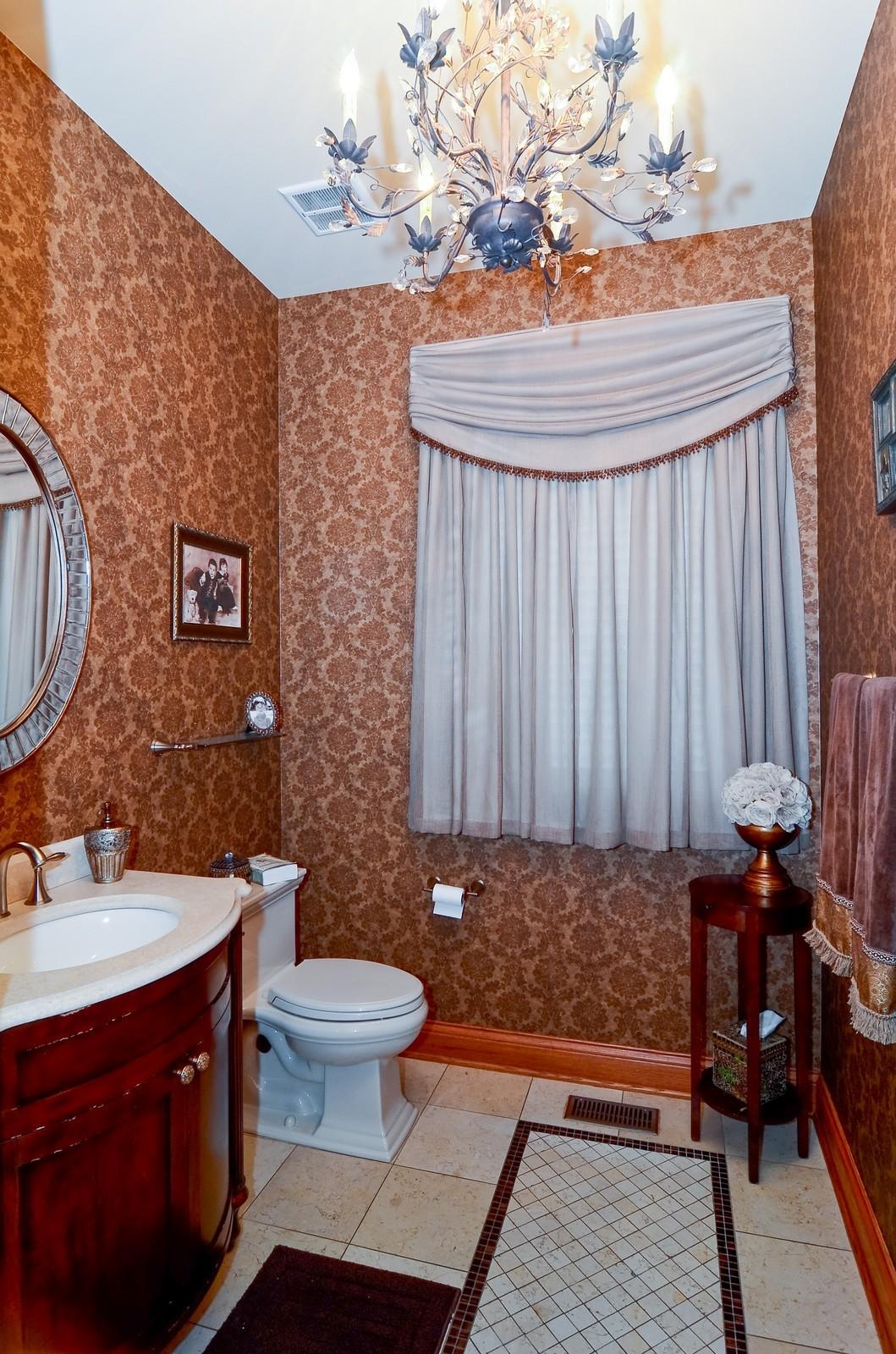 Real Estate Photography - 1443 S. Emerald, Chicago, IL, 60607 - Half Bath