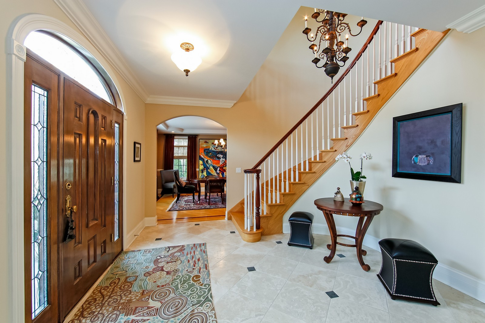 Real Estate Photography - 230 Franklin, Glencoe, IL, 60022 - Foyer