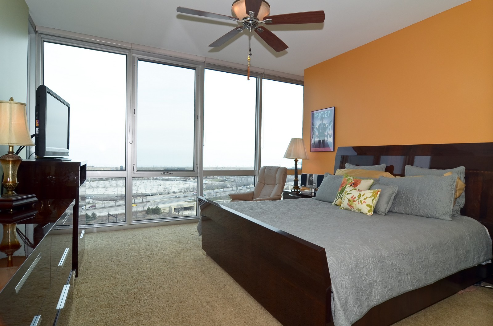 Real Estate Photography - 1629 S. Prairie, 1401, Chicago, IL, 60616 - Master Bedroom