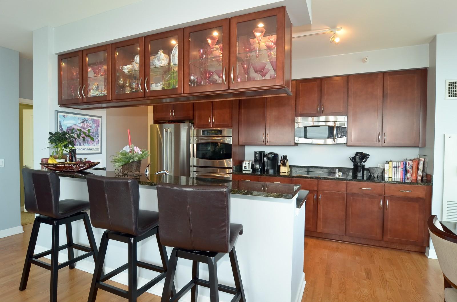 Real Estate Photography - 1629 S. Prairie, 1401, Chicago, IL, 60616 - Kitchen