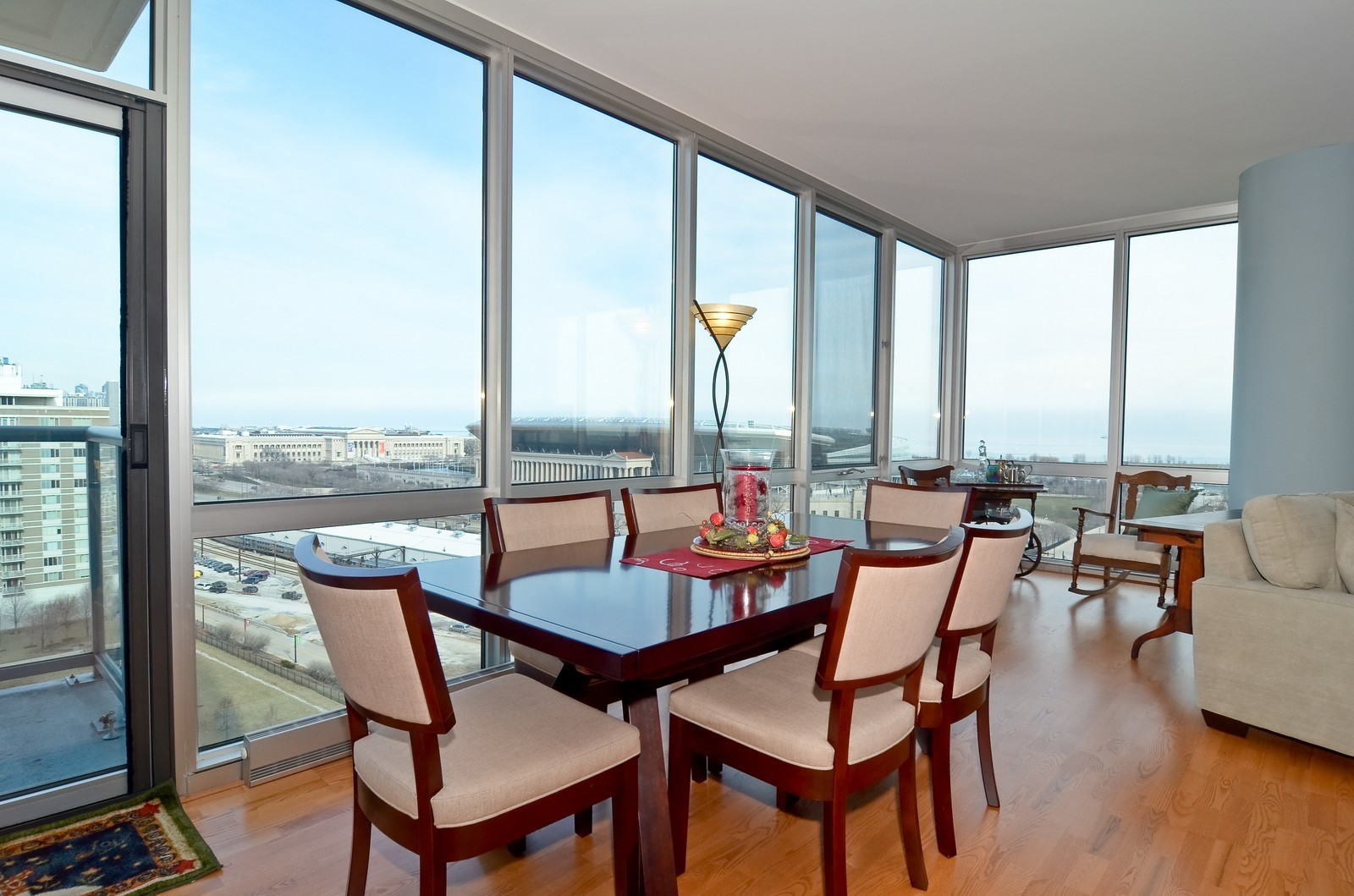 Real Estate Photography - 1629 S. Prairie, 1401, Chicago, IL, 60616 - Dining Area