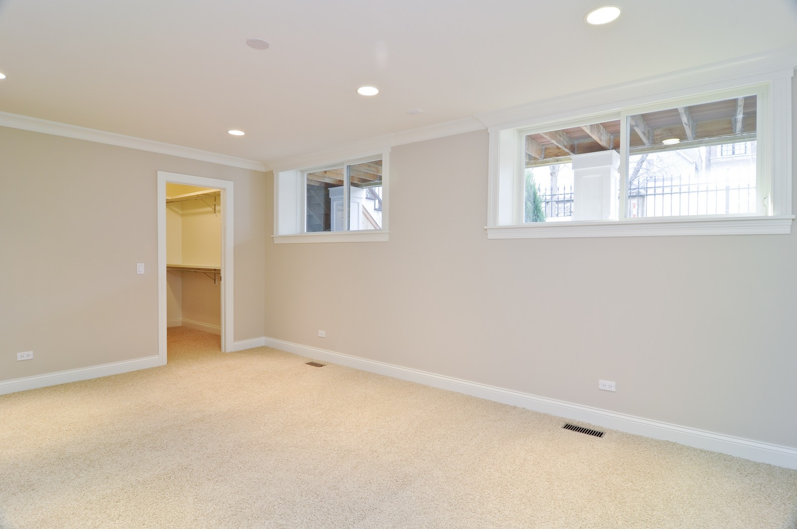 Real Estate Photography - 3845 N Paulina St, Chicago, IL, 60613 - Lower Level Bedroom