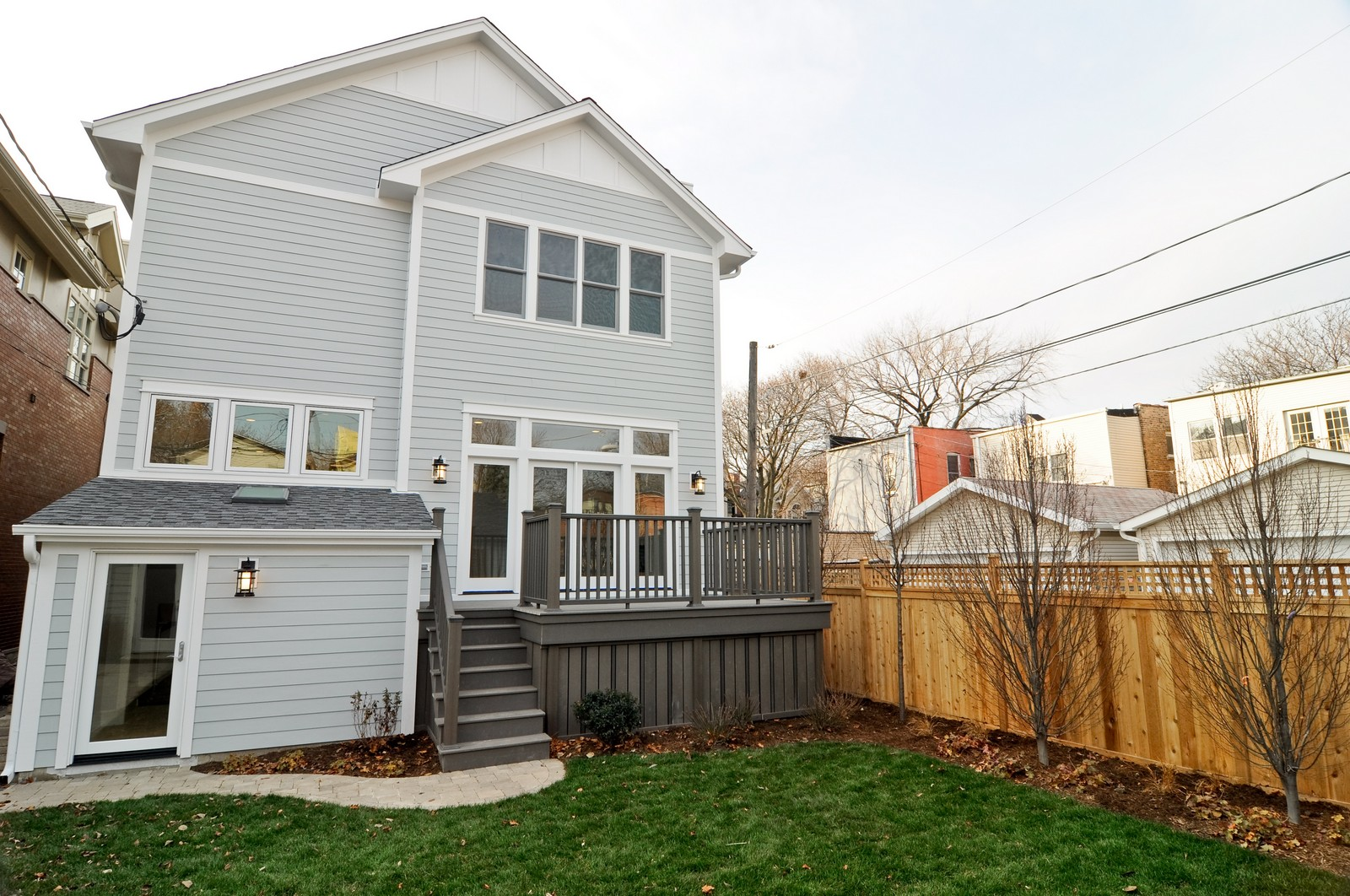 Real Estate Photography - 3845 N Paulina St, Chicago, IL, 60613 - Rear View