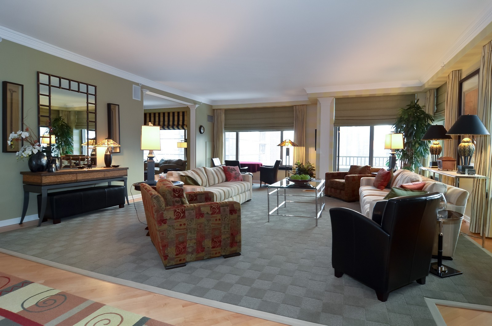 Real Estate Photography - 530 N Lake Shore Drive, Unit 2800, Chicago, IL, 60611 - Living Room