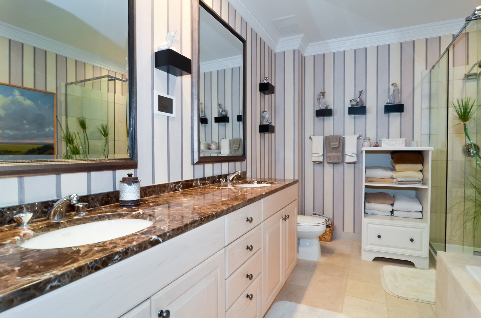 Real Estate Photography - 530 N Lake Shore Drive, Unit 2800, Chicago, IL, 60611 - Master Bathroom